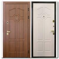 Дверь Олимпия (орех бренди/белый ясень)