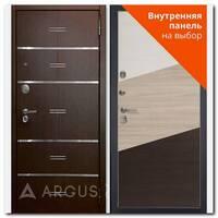 Дверь Люкс АС 2П Лайн венге / внутренняя панель на выбор