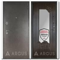Дверь ДА-6 (серебро антик / Ольга венге с зеркалом)
