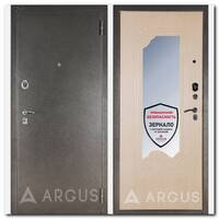 Дверь ДА-8 (серебро антик / Ольга дуб беленый с зеркалом)