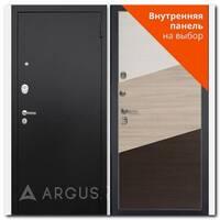 Дверь Люкс ПРО черный шелк / внутренняя панель на выбор