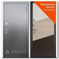 Дверь Люкс АС серебро антик / внутренняя панель на выбор