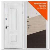 Дверь Брайтон White, роял вуд белый ФЛ-2 / под панель