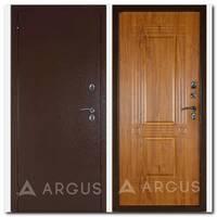 Дверь Тепло-1 (молоток коричневый / Триумф-2 дуб янтарный)
