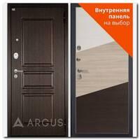 Дверь Люкс АС 2П Сабина венге / внутренняя панель на выбор